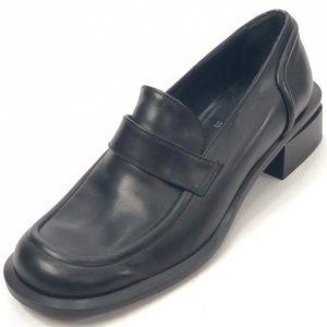 BALLY Arak Moc Toe Black Leather Loafers 7M NEW